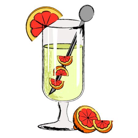 Popular martini cocktail drink. Vector illustration design