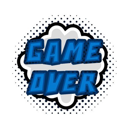 Game over concept image Ilustração