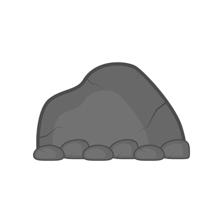 Isolated comic stone icon