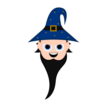 Cute halloween witch cartoon character. Vector illustration design