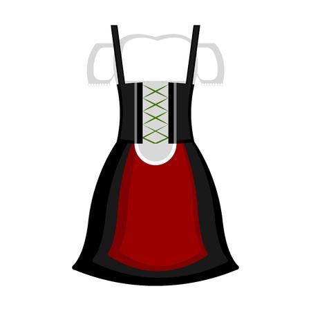 Traditional oktoberfest clothes for women. Vector illustration design
