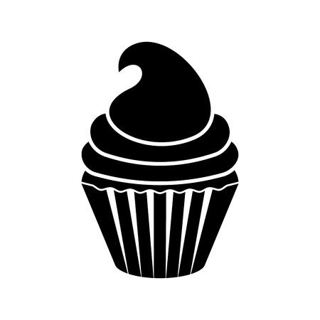 Isolated cupcake silhouette icon. Vector illustration design