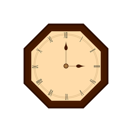 Isolated wall clock icon. Vector illustration design