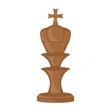 Isolated king chess piece icon. Vector illustration design