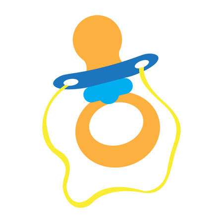 Isolated baby pacifier icon. Vector illustration design Illustration