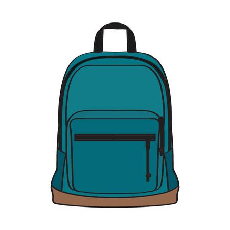 Imagen de bolso de escuela aislado. Diseño de ilustración vectorial