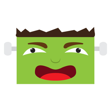 Happy halloween cartoon zombie avatar. Vector illustration design
