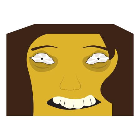 Cute halloween cartoon maniac avatar. Vector illustration design Ilustração