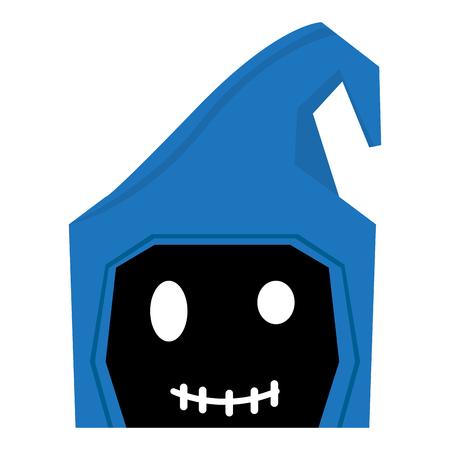Happy halloween cartoon reaper avatar. Vector illustration design