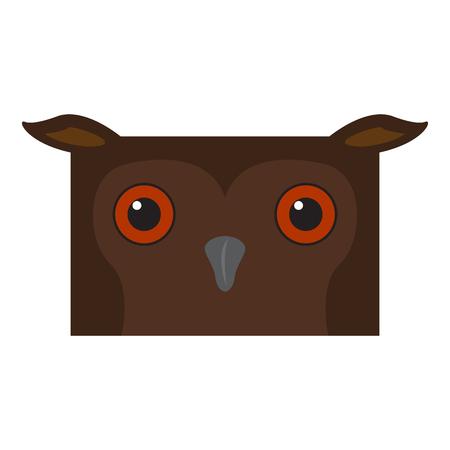 Cute halloween cartoon owl avatar. Vector illustration design