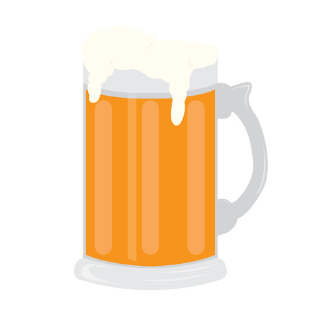 Isolated beer glass image. Vector illustration design