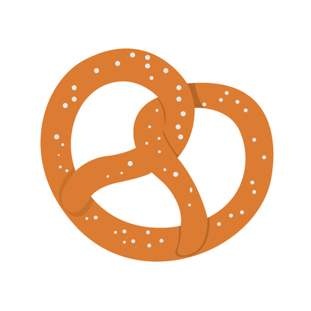Isolated bakery pretzel