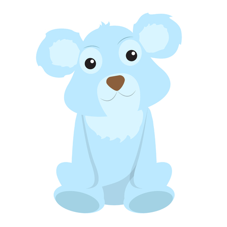 Isolated stuffed polar bear toy. Vector illustration design