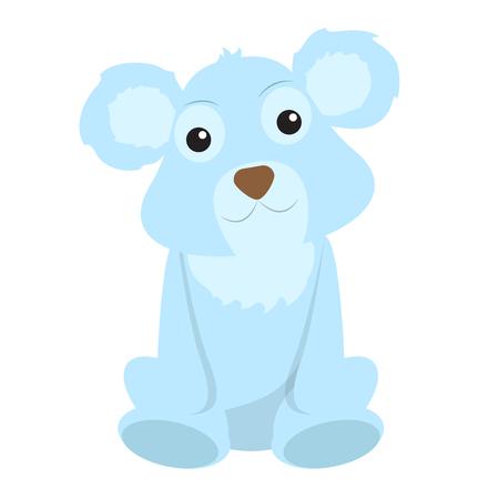 Isolated stuffed polar bear toy. Vector illustration design