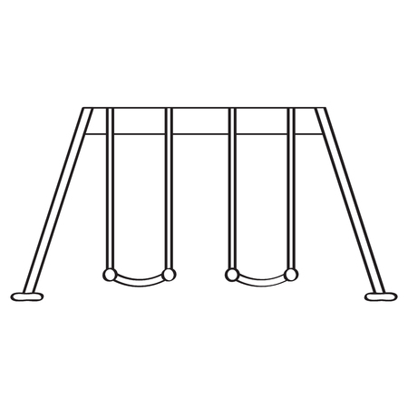 Isolated playground swing icon. Vector illustration design