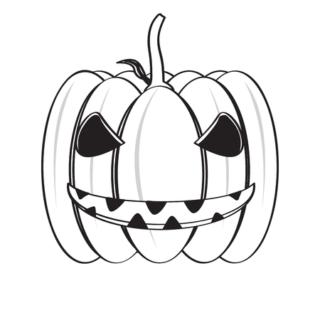 Isolated happy halloween pumpkin icon. Vector illustration design