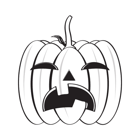 Isolated halloween pumpkin image icon. Vector illustration design Vectores