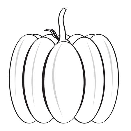 Isolated halloween pumpkin image icon. Vector illustration design Vektoros illusztráció