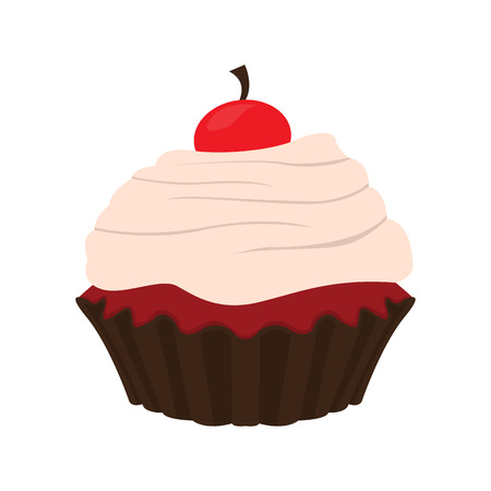 Isolated colored cupcake icon. Vector illustration design