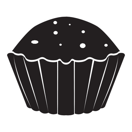 Isolated cupcake icon image. Vector illustration design Illustration