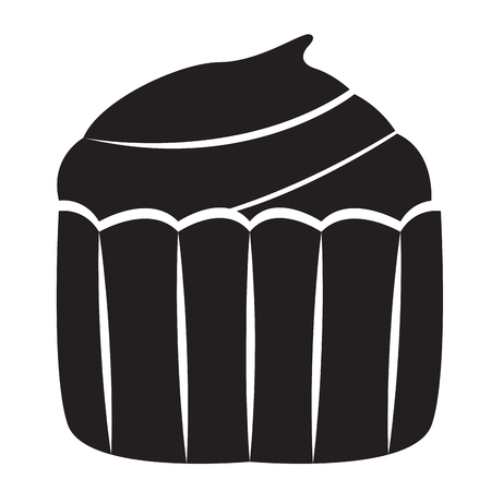 Isolated cupcake icon image. Vector illustration design Çizim