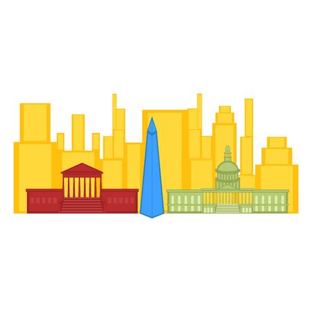 Colored cityscape of Washington city. Vector illustration design 일러스트