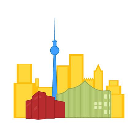 Colored cityscape of Toronto. Vector illustration design