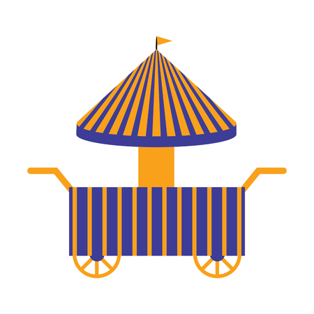 Isolated carnival shopping tent. Vector illustration design Illustration