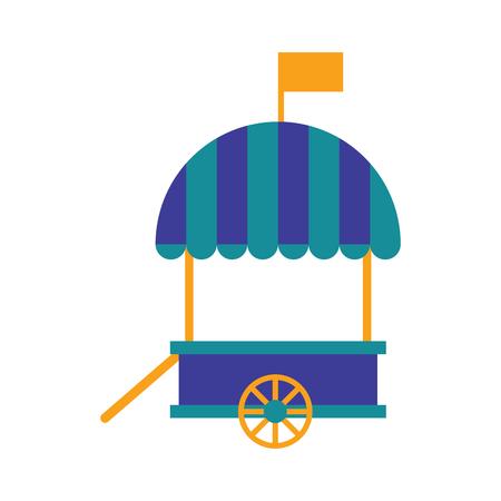 Isolated carnival shopping tent. Vector illustration design Illustration