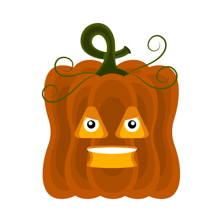 Angry halloween pumpkin cartoon character