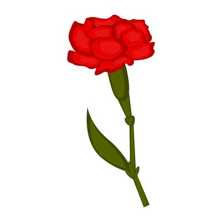 Isolated carnation flower icon. Vector illustration design