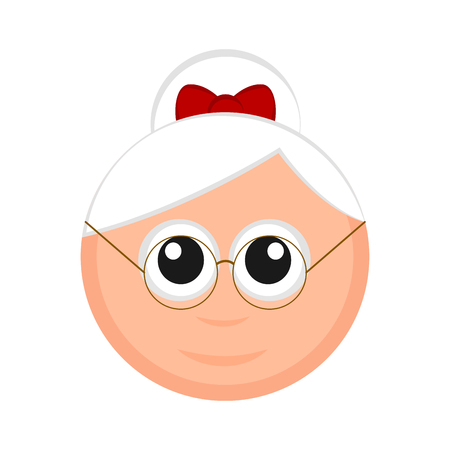 Christmas Mrs. Claus avatar. Vector illustration design Illustration