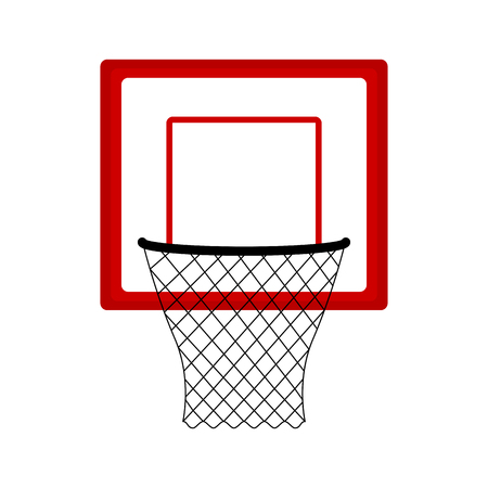 Isolated basketball net icon. Vector illustration design 向量圖像