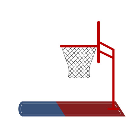 Isolated basketball net icon. Vector illustration design
