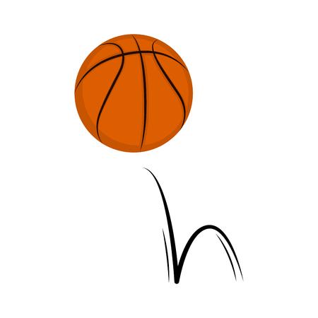 Isolated basketball ball spinning around. Vector illustration design 向量圖像