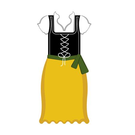 Traditional oktoberfest dress icon. Vector illustration design