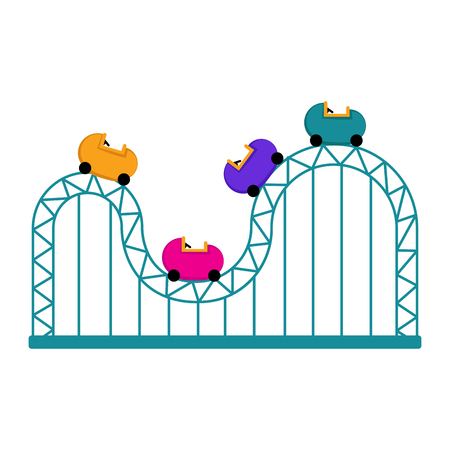 Isolated roller coaster icon. Vector illustration design