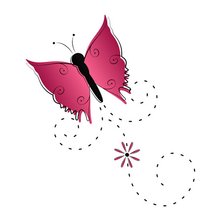 Cute butterfly flying icon. Vector illustration design Ilustração