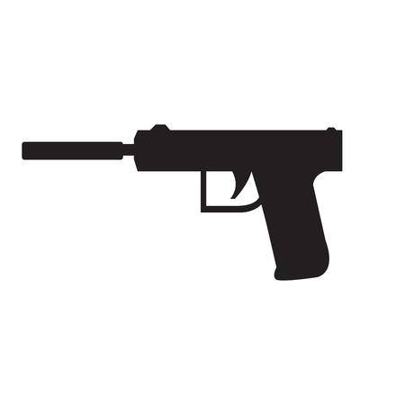 Isolated gun icon silhouette. Vector illustration design 일러스트