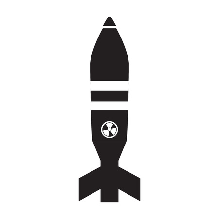 Isolated nuclear missile icon. Vector illustration design
