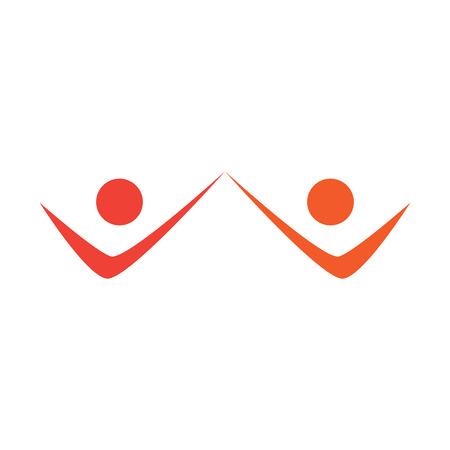 Isolated business teamwork logo.