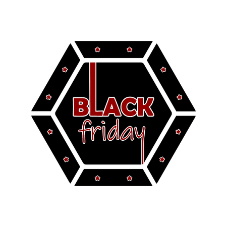 Isolated black friday label. Vector illustration design Ilustrace
