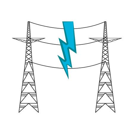 Pair of electrical towers. Vector illustration design Foto de archivo - 111187770
