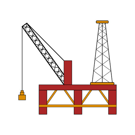 Isolated colored oil platform. Vector illustration design Illustration