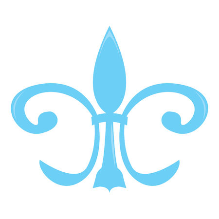 Mardi gras symbol. Fleur de lys. Vector illustration design
