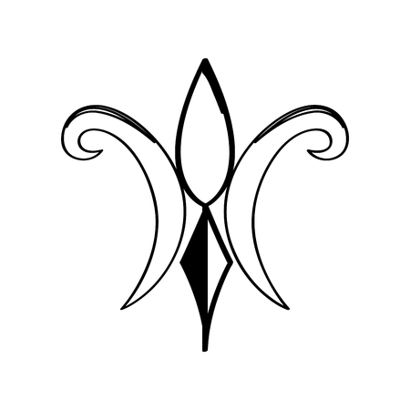 Mardi gras symbol. Fleur de lys outline. Vector illustration design Illustration