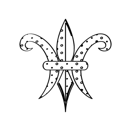 Mardi gras symbol. Fleur de lys outline. Vector illustration design Illustration