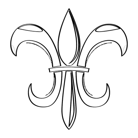 Mardi gras symbol. Fleur de lys outline. Vector illustration design Illusztráció