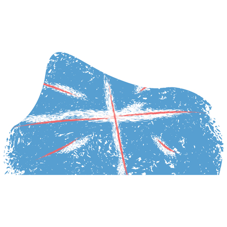 Isolated abstract flag sketch of united kingdom. Vector illustration design Illustration
