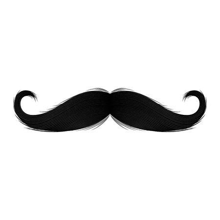 Isolated silhouette of moustache. Vector illustration design 矢量图片